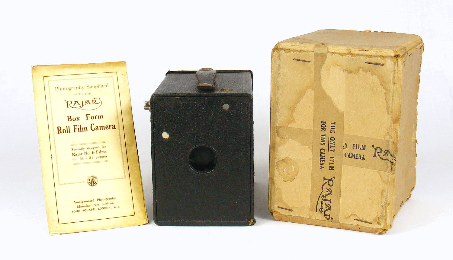 Image of Rajar No 6 Box Camera (with box)