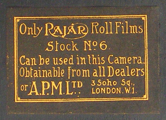 Image of Rajar No 6 Box Camera (film label)