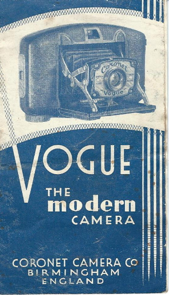 Image of the front cover of the Coronet Vogue instruction booklet