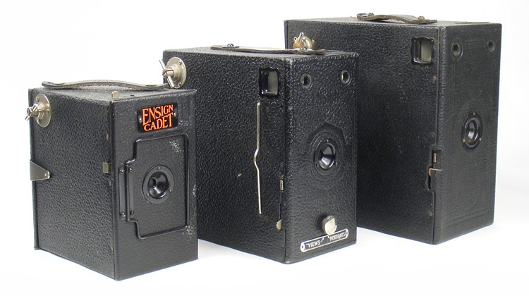 Image of different sizes of Houghton Butcher box cameras