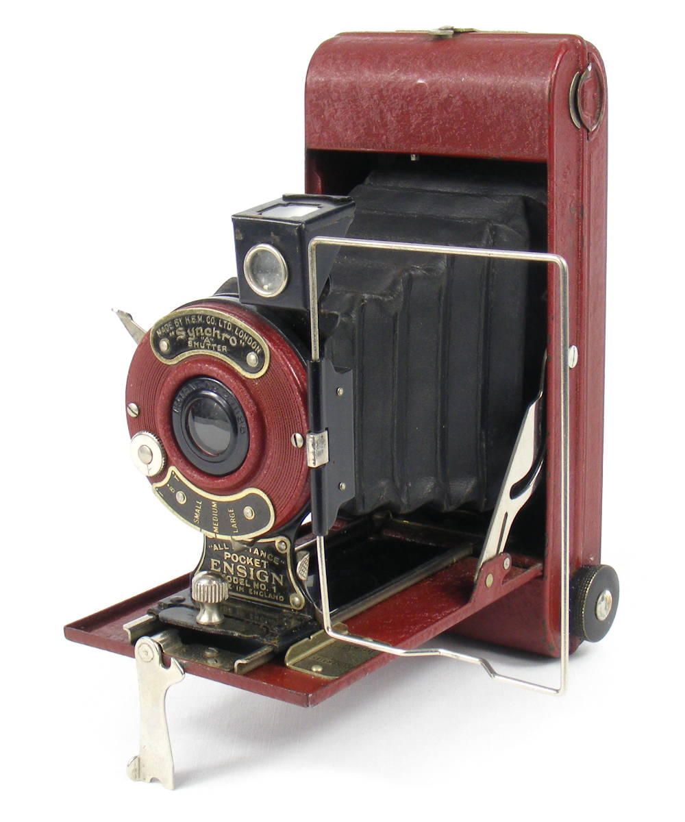 Image of All Distance Pocket Ensign Folding Camera (red)