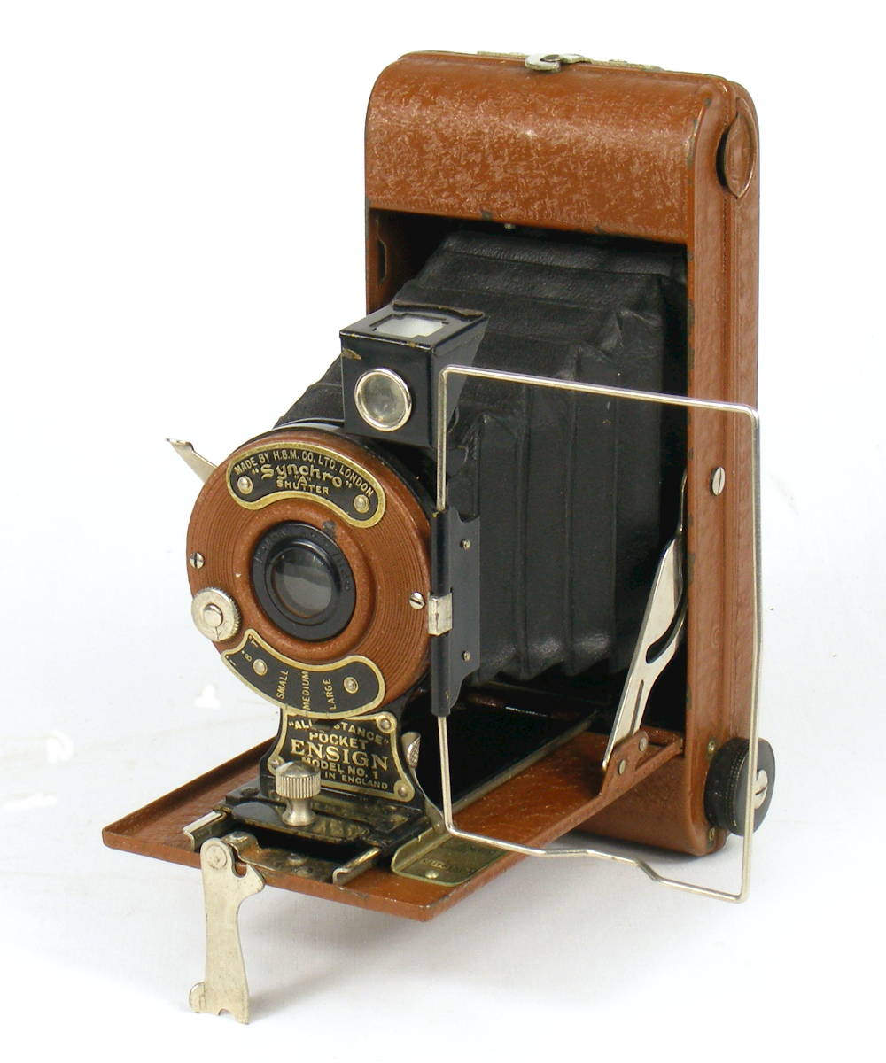 Image of All Distance Pocket Ensign Folding Camera (brown)