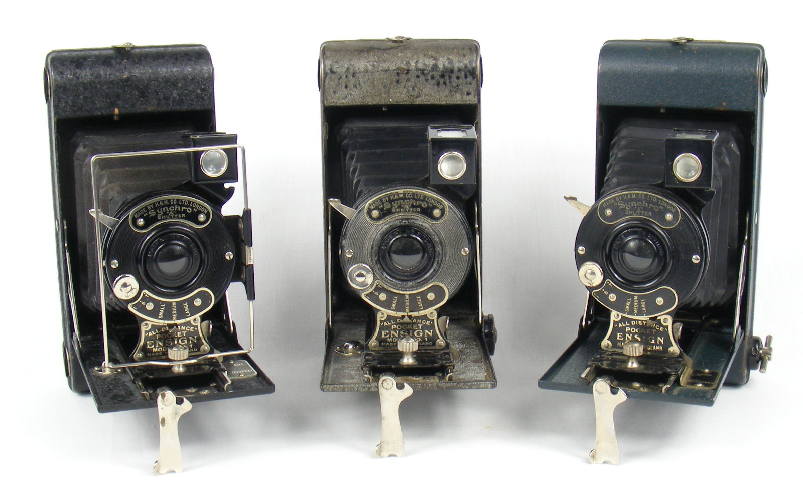Image of All Distance Pocket Ensign Folding Camera (blue, silver/grey and black variants)