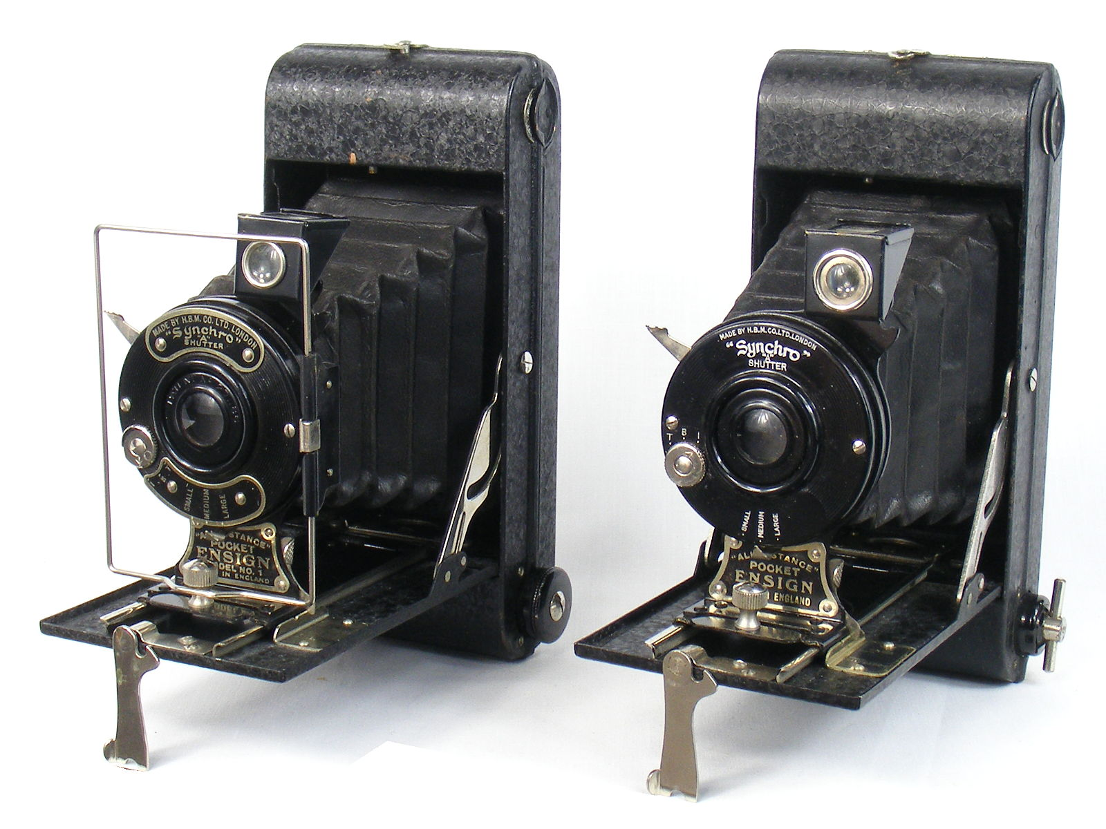 Image of All Distance Pocket Ensign Folding Camera (earl;y and late black variants)