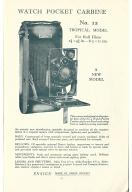 Thumbnail of Advert for No 12 Watch Pocket Carbine Tropical Camera