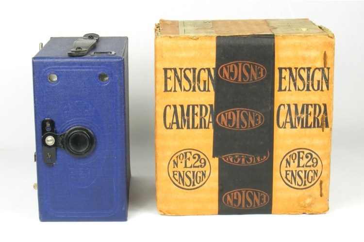 Image of Ensign E29 Box Camera with Packaging