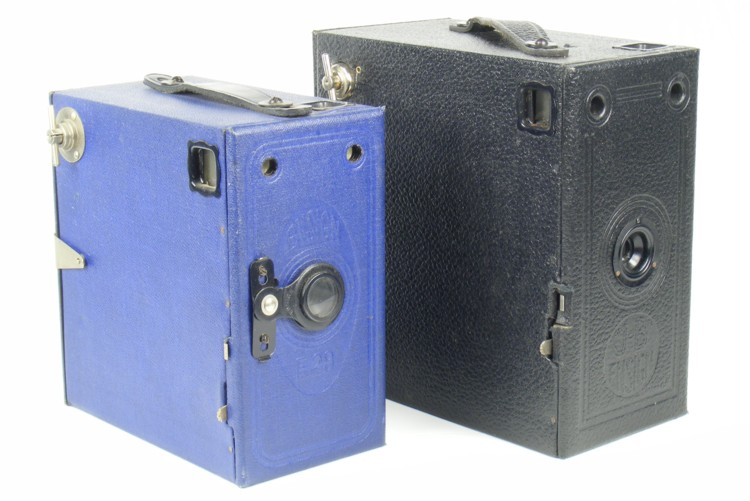 Image of Ensign E29 and J-B Ensign Box Cameras