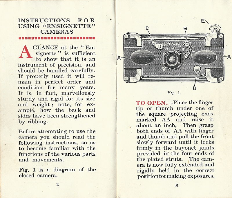 Image of page within Ensignette No 2 instruction booklet