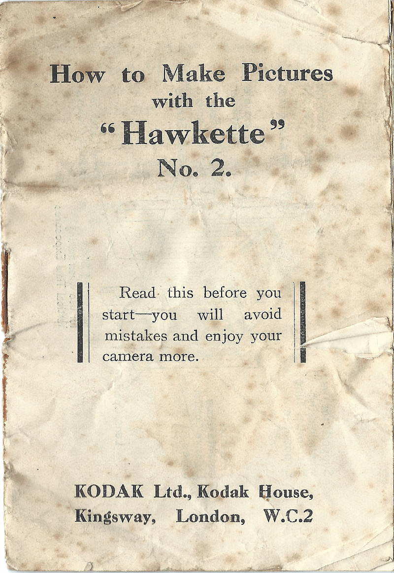 Image of No 2 Hawkette instruction booklet