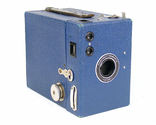 Image of Portrait Hawkeye A-Star-A box camera (blue)