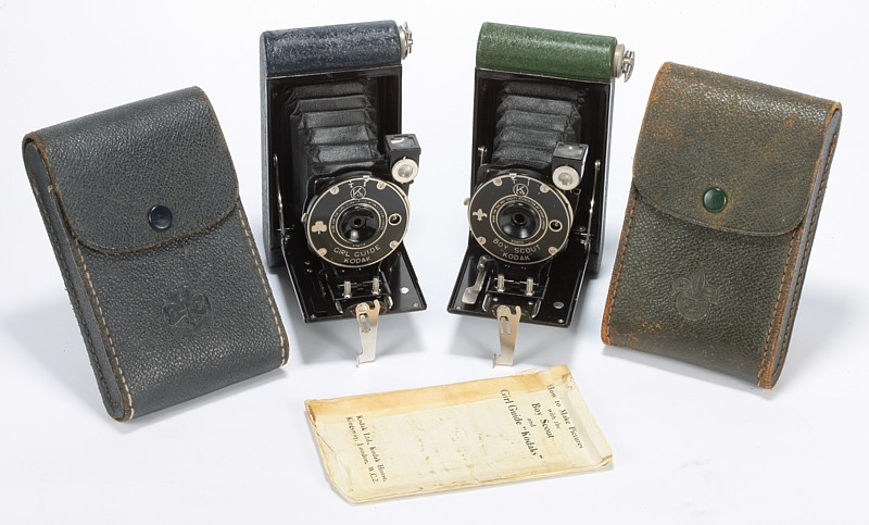 Image of Kodak Girl Guide and Boy Scout Cameras