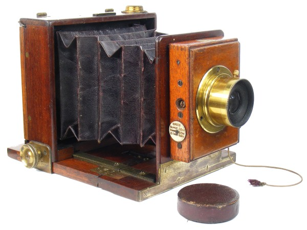 Image of an early tailboard camera made by W. W. Rouch & Co