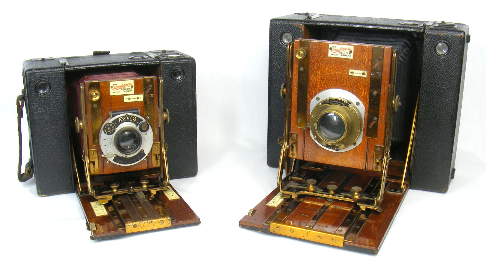 Image of both models of Sanderson Roll Film camera